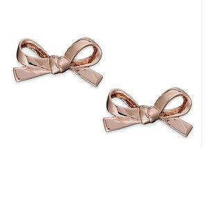 NWT Kate Spade Mini Bow Stud Earrings in Rose Gold